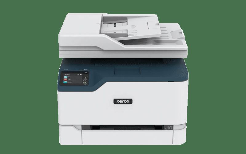 Xerox® C235 multifunktionsprinter frontalvisning